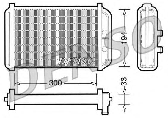 DRR09033 Радиатор отопителя FIAT: DUCATO c бортовой платформой/ходовая часть (244) 2.0 JTD/2.3 JTD/2.8 JTD/2.8 JTD 4x4/2.8 JTD P