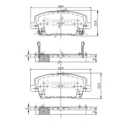 J3604065 Колодки тормозные HONDA CIVIC Hatchback 06- передние