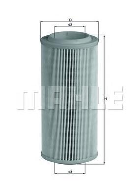 LX1595 Фильтр воздушный VAG A2/LUPO 1.2D-1.9D -05
