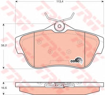 GDB1740 Колодки тормозные CITROEN JUMPY/FIAT SCUDO/PEUGEOT EXPERT 07- задние