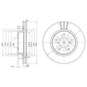 BG2767 Диск тормозной SUBARU IMPREZA 1.6-2.0 92-/LEGACY 1.8-2.2 89-99 передний