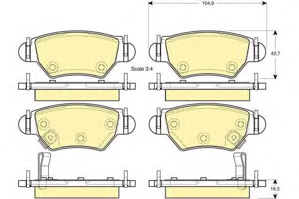 6114714 Колодки тормозные OPEL ASTRA G 98/ZAFIRA 0305 задние