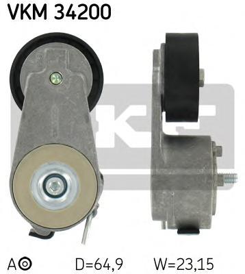 VKM34200 Натяжитель ремня приводного FORD MONDEO/GALAXY 1.8D 06-