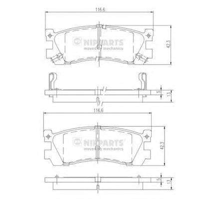 J3613005 Колодки тормозные MAZDA 626 87-97/929 87-91/XEDOS 9/MPV 95-99 задние
