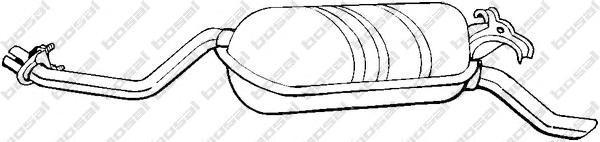 278189 Глушитель MB W124 2.0/2.3/2.0D/2.5D 85-95