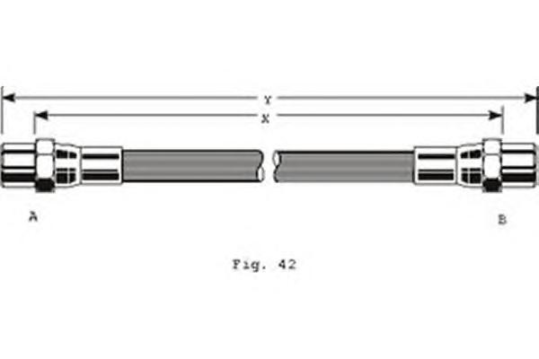 9001262 Шланг тормозной VW PASSAT 88-97 передний М10х1х355мм