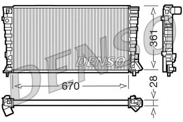 DRM07020 Радиатор системы охлаждения CITROEN: BERLINGO (MF) 1.8 D/1.8 D (MFA9A)/1.9 D/1.9 D (MFDJY)/1.9 D (MFWJZ)/1.9 D 4WD (MFW