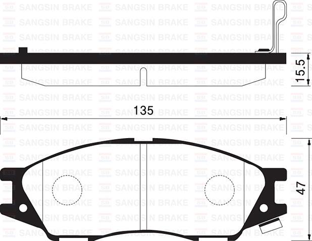 SP1156 Колодки тормозные NISSAN ALMERA CLASSIC 06- передние