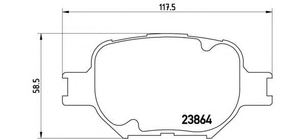 P83054 К-т торм. колодок Fr TO Celica, Corolla Ver 02-