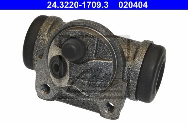 24322017093 Цилиндр тормозной рабочий PEUGEOT: 406 (8B) 1.6/1.8/1.8 16V/1.9 D/1.9 TD 95-04, 406 Break (8E/F) 1.8/1.8 16V/1.9 D/1