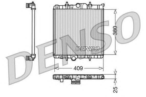 DRM21025 Радиатор системы охлаждения PEUGEOT: 206 SW (2E/K) 1.1/1.4/1.4 16V 02 - , 206 Наклонная задняя часть (2A/C) 1.1/1.1 i/1