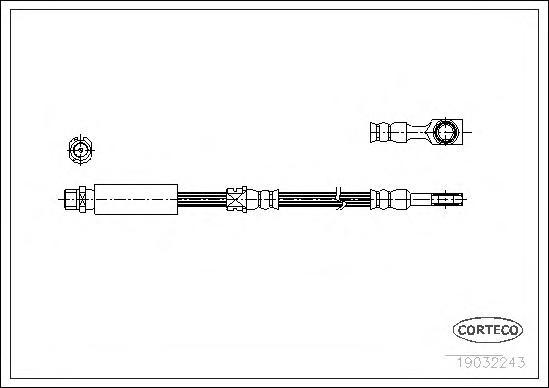 19032243 Шланг тормозной OPEL: ASTRA F CLASSIC Наклонная задняя часть 1.4 i 98-02