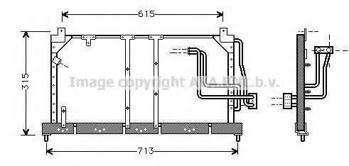 OL5224 Радиатор кондиционера OPEL: CORSA B (73_, 78_, 79_) 1.0 i 12V/1.2 i/1.2 i 16V/1.4/1.4 Si/1.4 i/1.4 i 16V/1.5 D/1.5 TD/1.6