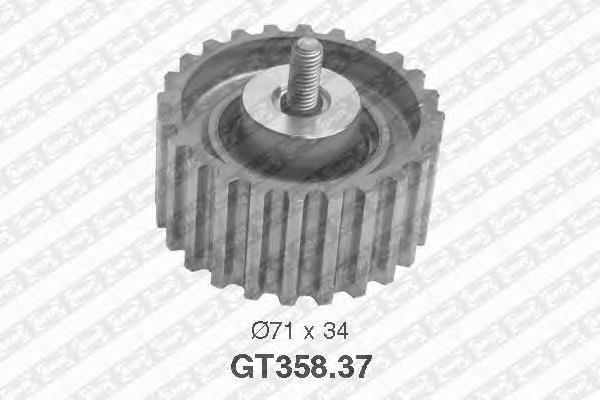 GT35837 Ролик ремня ГРМ FIAT DUCATO 2.3D 02-