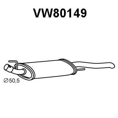 vw80149 ГЛУШ.ЗАД.Ч.VENTO1.6/8/9/2.0I8VDB11/91-12/98