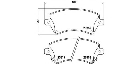 P83064 Колодки тормозные TOYOTA COROLLA (E12) 1.4/1.6/1.8/2.0 0002/02 передние