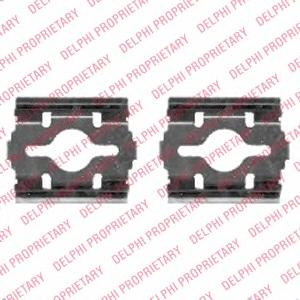 LX0409 Пружины прижимные дисковых колодок к-т.CITROEN/FIAT/PEUGEOT перед.