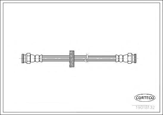 19018132 Шланг тормозной ALFA ROMEO: 145 1.4 i.e./1.4 i.e. 16V T.S./1.6 i.e./1.6 i.e. 16V T.S./1.7 i.e. 16V/1.8 i.e. 16V/1.8 i.e