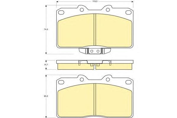 6140769 Колодки тормозные MITSUBISHI 3000GT 92-99 передние