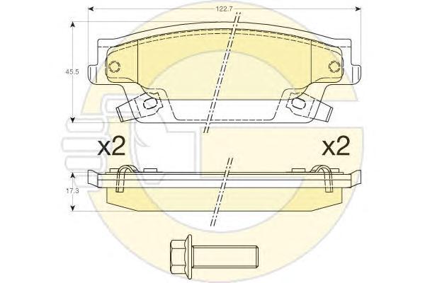 6144527 Колодки тормозные CADILLAC SRX 04-08 задние