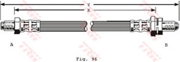 PHC204 Шланг тормозной передн 355мм FORD: SIERRA 8/85-2/93