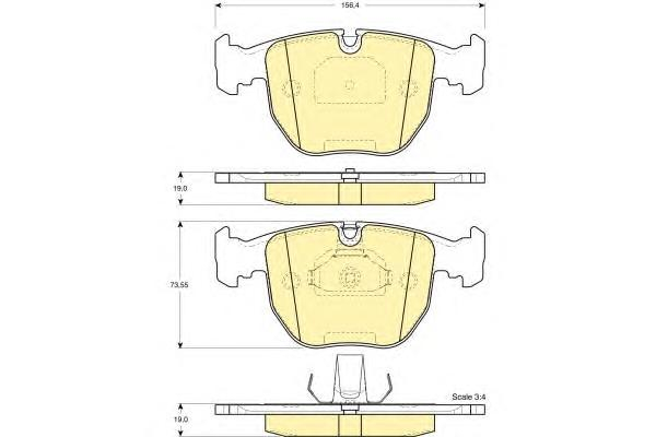 6112612 Колодки тормозные BMW Е38/E39/X5 3.0/4.4 передние