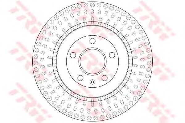 DF6175S Диск тормозной AUDI A4/A5 07-/A6/A7/A8 10-/Q5 задний вент.D=330мм.