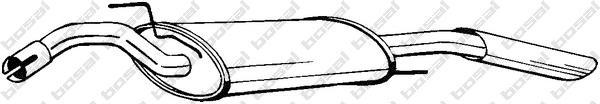 279489 Глушитель VW PASSAT 1.8/2.0/1.9TD 88-93