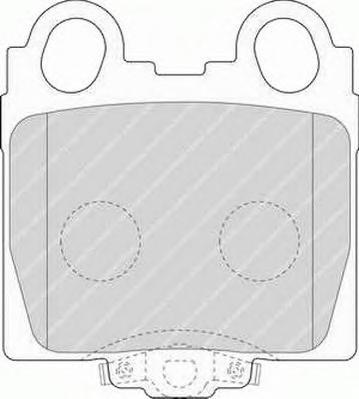 FDB1610 Колодки тормозные LEXUS GS 3.0-4.3 97-/IS 2.0-3.0 99- задние