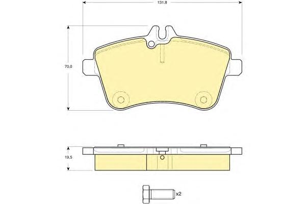 6116281 Колодки тормозные MERCEDES A-CLASS W169/B-CLASS W245 2.0 передние
