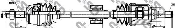 217033 Привод в сборе FIAT PUNTO II 1.2 99- прав.