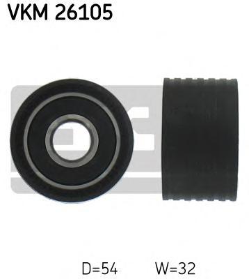 VKM26105 Ролик промежуточный ремня ГРМ Renault Avantime 2.0T 16v 01 Espace 2.0 16V 01