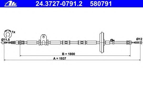 24372707912 Трос, стояночная тормозная система