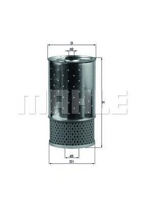 OX38D Фильтр масляный MB W202/124/463/T1/SSANGYONG MUSSO/KORANDO D/TD