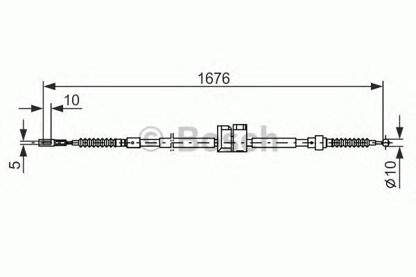 1987477815 Трос ручного тормоза AUDI -97 1676мм