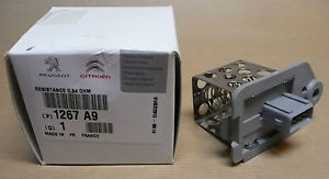 1267A9 Резистор вент. охл. 406/607/807/PARTNER