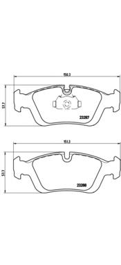 P06024 Колодки тормозные BMW E36/E46/Z3 E36/Z4 E85 98 передние