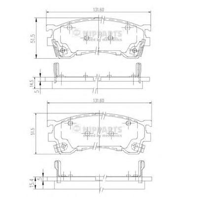 J3603061 Колодки тормозные MAZDA 323/626/PREMACY 92- передние