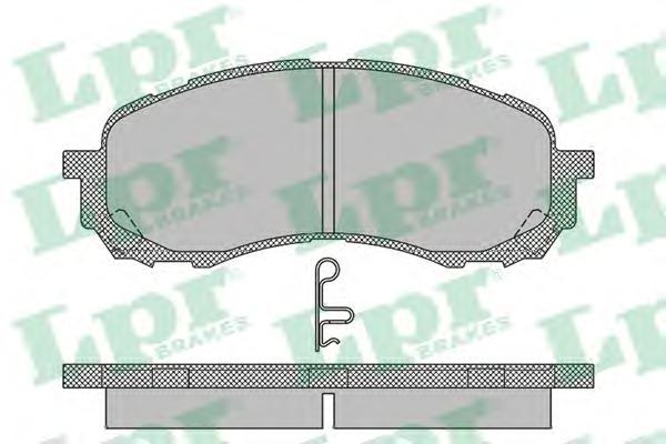 05P1454 Колодки тормозные SUBARU IMPREZA 00- передние