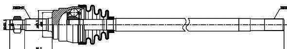 216013 Привод в сборе JEEP CHEROKEE II/GRAND/WRANGLER I-II 2.5-4.0 84-06 прав.