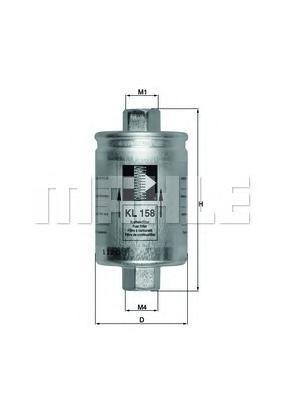 KL158 Фильтр топливный DAEWOO NEXIA/ESPERO