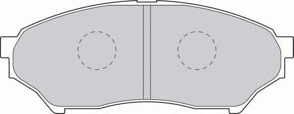 FDB1596 Колодки тормозные MITSUBISHI PAJERO PININ 1.8-2.0D 99- передние