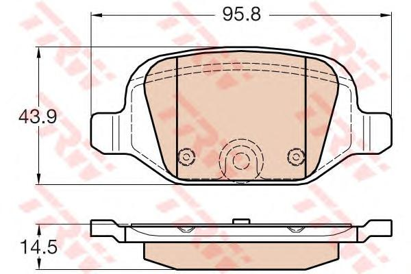 GDB1981 Колодки тормозные CITROEN NEMO/FIAT FIORINO/PANDA 04-/PEUGEOT BIPPER задние