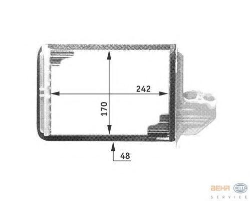 8FH351311661 Радиатор отопителя BMW E36 1.6-3.2 90-99