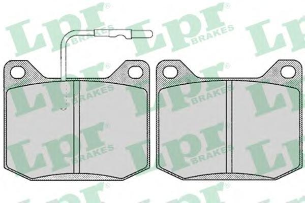 05P118 Колодки тормозные PEUGEOT 504 1.8-2.1 71-86 передние