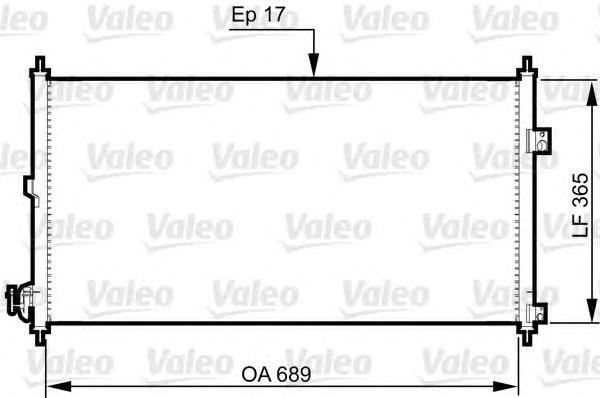 814331 Радиатор кондиционера NISSAN: X-TRAIL (T30) 2.5 4X4 01-