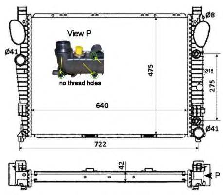 55325 Радиатор MB W220 S320 CDI 00-