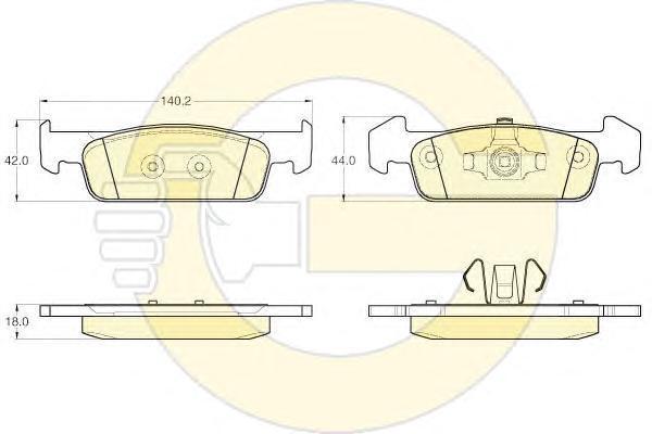 6120182 Колодки тормозные RENAULT LOGAN II/SANDERO II 14- пер.