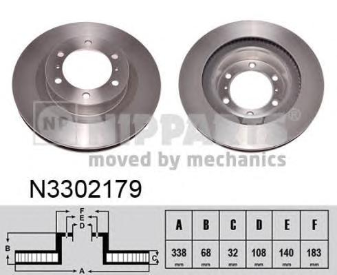 N3302179 Диск тормозной TOYOTA LAND CRUISER PRADO (J150) 10- передний