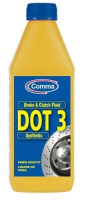 BF1L Жидкость тормозная COMMA 1л BRAKE FLUID DOT 3